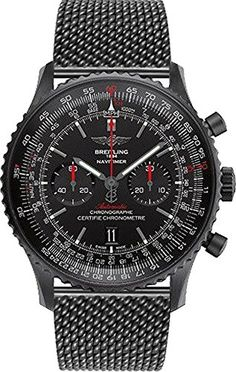 Breitling Navitimer 01 Blacksteel * Learn more by visiting the image link. Breitling Superocean Heritage, Breitling Navitimer, Army Watches, Sport Watches, Watches For Men, Baby Registry Items, Trendy Watches, Baby Monitor, Fitness Tracker