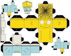 the simpsons' characters..... templates box head 3D figures
