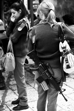 'Fashionable' Israeli Women: Jerusalem - Always ready & watchful to deal with a terrorist attack