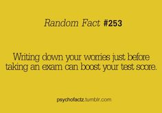 Helping to overcome test anxiety