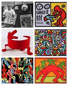 """Happy birthday to Keith Haring, born on May 4, 1958. From an early age, he loved drawing. His father taught him basic cartooning skills, and he learned from the pop culture of the 1960-70s, including Dr. Seuss and Walt Disney.  To celebrate Keith Haring, download the March 2008 article, """"Hip Like Haring,"""" for free! Go to www.artsandactivities.com/Page/Articles08/A030822.pdf"""