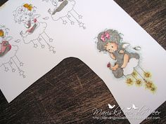 Tutorial on 3D paper piecing Copic colored images