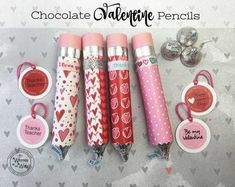 50 Valentine's Day Gifts for Coworkers - Gift Ideas Corner Valentine's Day . 50 Valentine's Day Gifts for Coworkers - Gift Ideas Corner Valentine's Day Chocolate Pencil, Valentine's Day Gifts for C. Valentines Day Chocolates, Teacher Valentine, Valentine Chocolate, Chocolate Gifts, Valentine Day Crafts, Happy Valentines Day, Teacher Gifts, Valentine Ideas, Valentines Day For Coworkers