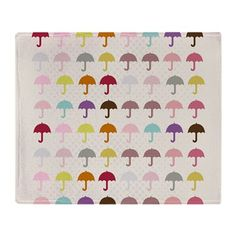 Cool umbrella throw blanket #umbrella #pattern