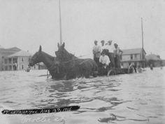 Procter Street flooded. 1915