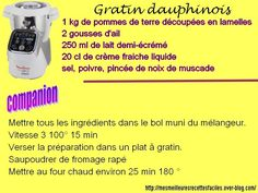 Gratin dauphinois with the companion moulinex - Recipes Easy & Healthy Cooking Beef Tenderloin, Cooking Ribeye Steak, How To Cook Broccoli, How To Cook Rice, Cooking Broccoli, Cooking Pumpkin Seeds, Frozen Salmon, Cake Factory, Cooking Bacon