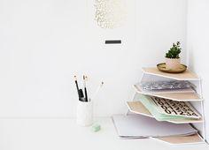 DIY wood desk organiser | workspace tidy up | easy craft ideas