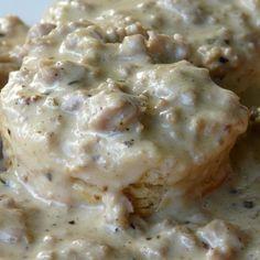 CAMP FOOD!  Sausage Gravy Breakfast Recipe