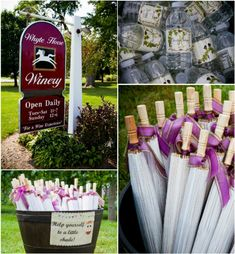 Wine themed wedding ideas; click through to the real wedding blog post for more inspirational photos!