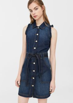 Koszulowa sukienka denim | MANGO