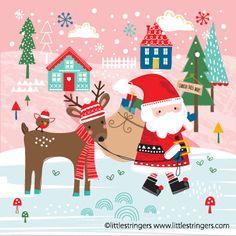 One of my Christmas card designs! #christmastime #greetingscarddesign #christmascards #christmascarddesign #santa #reindeer