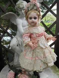 ~~~ On Hold for A. / Most Beautiful French BeBe Spring Dress with from whendreamscometrue on Ruby Lane...