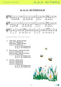 10 Noten / 10 Liedtexte - 2 Gedichte - Morgenkreis / Ostern / Muttertag - Sommer- u.Vorschulfest