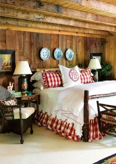 Vichy checks are great decorative patterns. Checkered woven fabric patterns look soft and charming. These decorative fabrics enhance country style decor and create pleasant, relaxing and comfortable interior decorating. Decor4all collected wonderful country style decor ideas to share and inspire all
