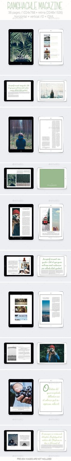 Tablet&iPad Ramshackle Magazine 36 Pages Template #design Download: http://graphicriver.net/item/tabletipad-ramshackle-magazine/13278891?ref=ksioks
