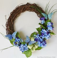 Spring Wreath - that can be made in less than 20 minutes.