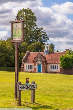 The village sign for Beneden in Kent depicting a man playing cricket whilst wearing a top hat Fairytale Cottage, Storybook Cottage, Chapel Down, Bodiam Castle, England Countryside, Most Haunted, England And Scotland, You Are The World, Isle Of Wight