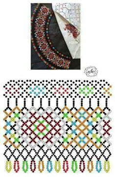 Beading Techniques, Beading Tutorials, Beading Patterns, Diy Necklace Patterns, Beaded Jewelry Designs, Bead Loom Bracelets, Beaded Collar, Handmade Beads, Loom Beading