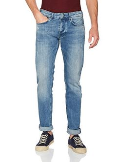 Pepe Jeans London Zinc Blue, Pantalones Vaqueros para Hombre