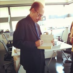 Finally! The master of thriller himself is in our humble offices! #JefferyDeaver