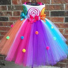 Candy land tutu jurk