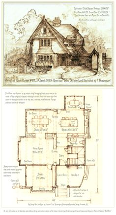 331 House 331 Portrait and Plan by on (****I would need to modify some areas, upstairs.)House 331 Portrait and Plan by on (****I would need to modify some areas, upstairs. The Plan, How To Plan, Tyni House, Tudor House, Storybook Homes, Storybook Cottage, Cottage Homes, Cottage Style, Cottage Plan