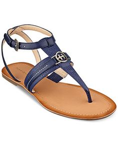 Tommy Hilfiger Women's Lorine Flat Thong Sandals - Sandals - Shoes - Macy's - $59