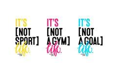Identity for fitness club in Miami