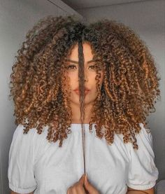 Dyed Curly Hair, Dyed Natural Hair, Curly Hair Styles, Natural Hair Styles, Natural Curls, Curly Girl, Cabello Afro Natural, Pelo Natural, Cabelo 3c 4a