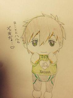 Plushie Makoto ...  From おまめ ... Free! - Iwatobi Swim Club, free!, iwatobi, makoto tachibana, makoto, tachibana, plush doll, plush toy, plushie