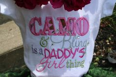 Camo & Bling is a daddy's girl thing shirt by creationbydebra, $16.00