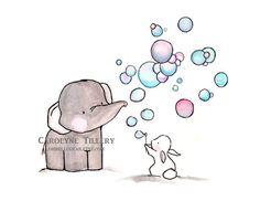 BubbelsArchief Print van ohhellodear op Etsy