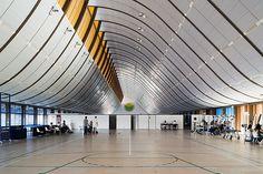 Espaço do hospital Sarah Kubitschek, em Brasília, projetado por João Filgueiras Lima