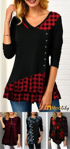 Autumn and winter can still be fashionable. Fall Outfits, Casual Outfits, Cute Outfits, Diy Clothes, Clothes For Women, Trendy Tops For Women, Fashion Dresses, Womens Fashion, Autumn