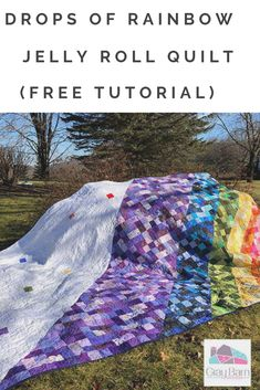"""""""After a quilting storm, there is an array of scraps that can create even more beauty. Get two quilts for the time of one! Instead of using leaders and enders in your next project, sew squares and half square triangles together. Half Square Triangles, Squares, Rainbow Jelly, Grey Bar, Jelly Roll Quilt Patterns, Rainbow Quilt, Jelly Rolls, Jellyroll Quilts, Quilting Designs"""