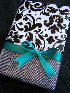 Black, white, & turquoise