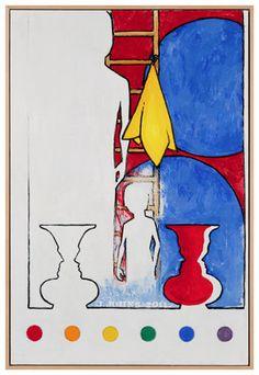 #JasperJohns 5 Postcards 2011, Encaustic on canvas 36 x 24 inches.  Follow Jasper Johns on Pinterest curated by Joseph K. Levene Fine Art, Ltd. http://pinterest.com/jklfa/jasper-johns/