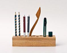 Wooden Desk Organizer Pen Holder Pencil Holder Office Organizer JACOB