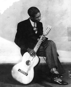"""Alonzo """"Lonnie"""" Johnson (1899-1970) was equally influential as a jazz musician and blues musician."""