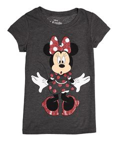 Look at this Charcoal Heather Minnie Mouse Tee - Girls on #zulily today!