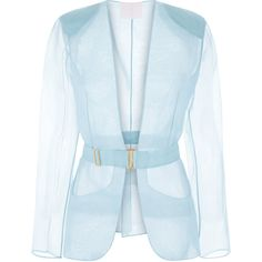 La Perla Esprit D'atelier Jacket ($1,538) ❤ liked on Polyvore featuring outerwear, jackets, light blue, metallic jacket, blue jackets, light blue jacket, logo jackets and shiny jacket