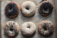 homemade bagels -- recipe uses honey instead of barley malt syrup.