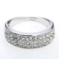 Arinna Wedding Engagement Ring Lots Of Smart Clear Swarovski Crystal 18K White Gold Gp Arinna. $17.98