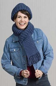 Free Knitting Pattern: Ribbed Hat & Scarf