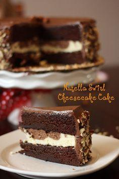 Nutella Swirl Cheesecake Cake