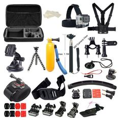 VolksPro SJCAM Camera Accessories Kit Great Kit Bundle for Sport Cameras and Compatible with GoPro Hero 4 GoPro Hero Hero 3 Camera and Xiaomi Yi Action Camera Gopro Hero 3, Gopro 6, Gopro Case, Instax Mini Camera, Fuji Instax Mini, Gopro Accessories, Photo Accessories, Gopro Kamera, Diving