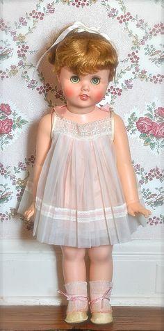 "Vintage Little Girl Toodles Doll 24"" 1960 Near Mint"
