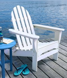 Love the Adirondacks, love the chair...and of course I pinned one from LL Bean.