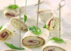 Italian cold cut pesto wraps