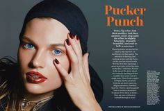 Pucker Punch in Allure with Bette Franke wearing Calvin Klein Parmentier - - Fashion Editorial Hair And Makeup Artist, Hair Makeup, Makeup Artists, Beauty Make Up, Hair Beauty, Richard Burbridge, Bette Franke, Measure Ring Size, Art Commerce